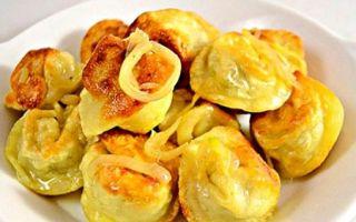 Жареные пельмени на сковороде | с сыром