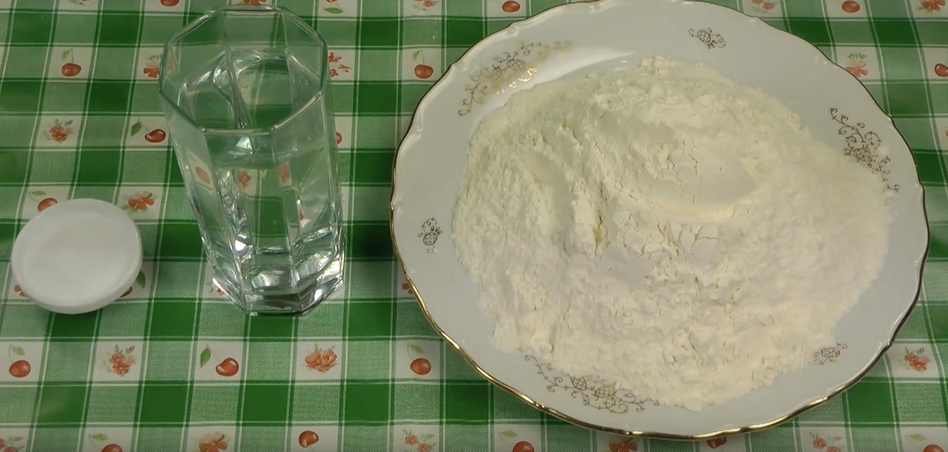 Тесто для мантов без яиц