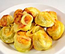 Рецепт – жареные пельмени в сковородке